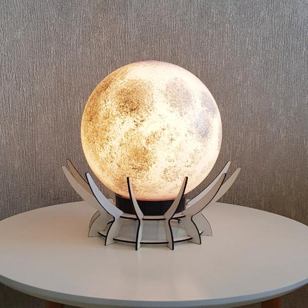 آباژور رومیزی طرح مروارید مدل کره ماه