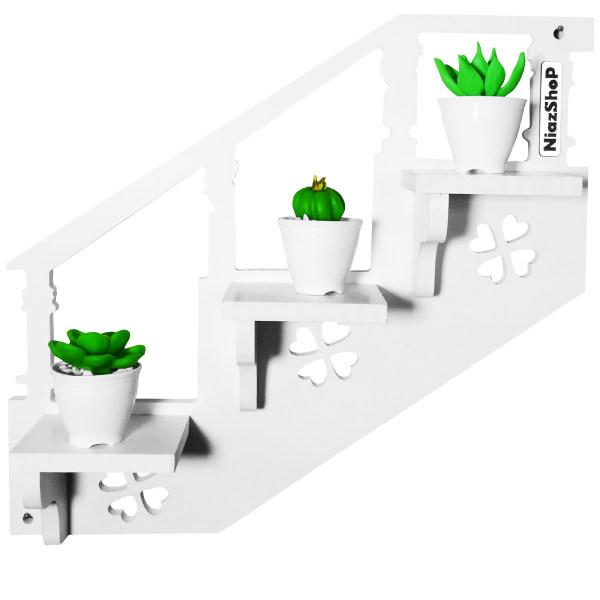 استند گلدان نیازشاپ مدل NP922 به همراه گل مصنوعی