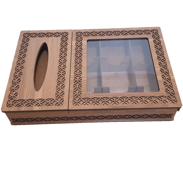 جعبه پذیرایی و دستمال کاغذی مدل نسیم