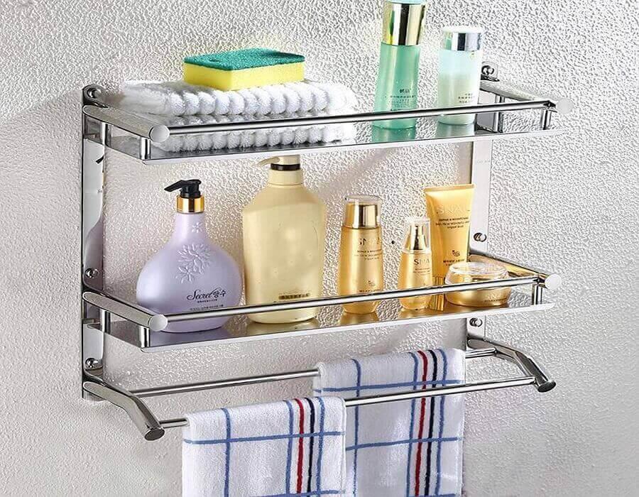 قفسه حمام ، جا شامپوی دیواری
