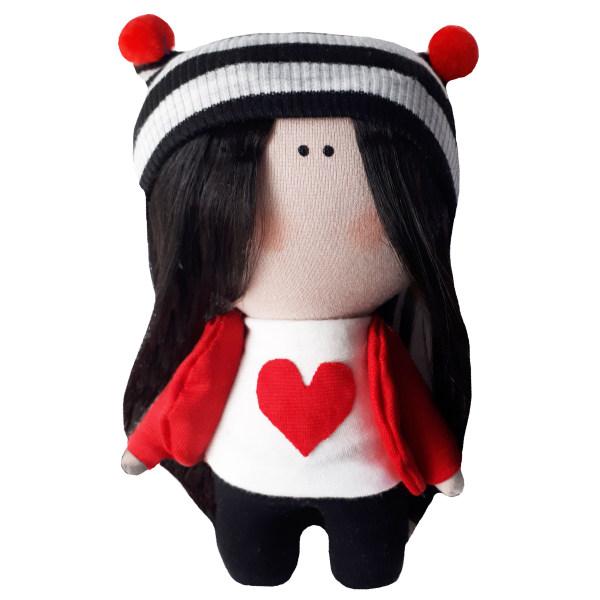 عروسک طرح دختر روسی قلبی کد MG08 ارتفاع 15 سانتی متر