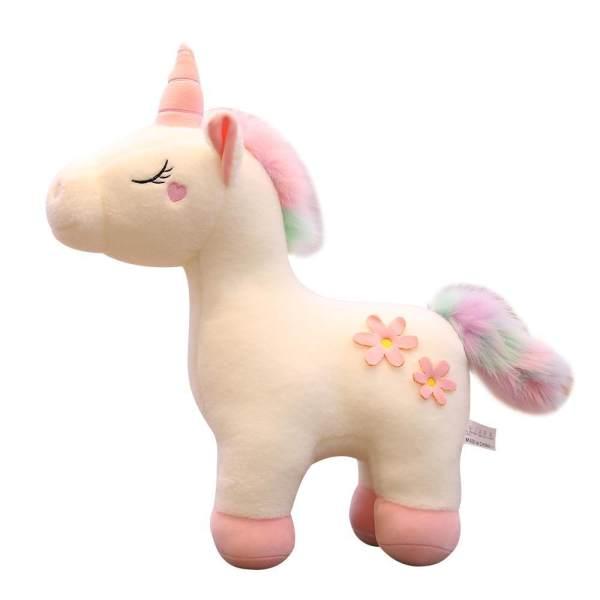 عروسک طرح اسب تک شاخ مدل Flower Unicorn ارتفاع 30 سانتی متر