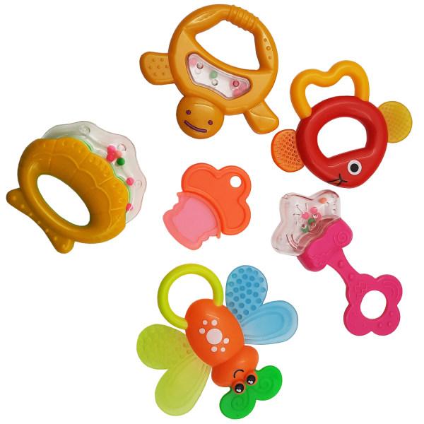 جغجغه هولا مدل Baby Toys بسته 6 عددی