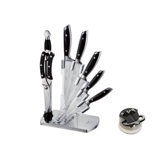 سرویس چاقو آشپزخانه 9 پارچه وینر مدل KWG9.PLUS به همراه چاقو تیز کن