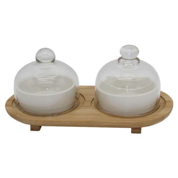 ظرف عسل و مربا خوری مدل دوقلو P571